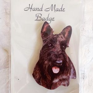 Black Scottish Terrier Scottie Dog Brooch Pin NEW
